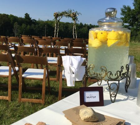 Infused water station by Wedding Ceremony