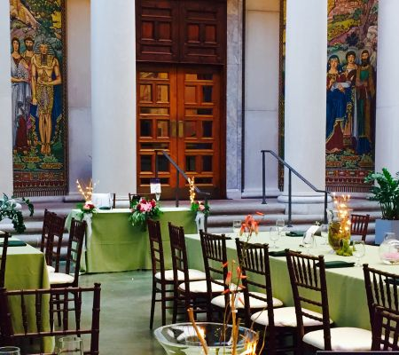 Courtyard Wedding at Currier Museum
